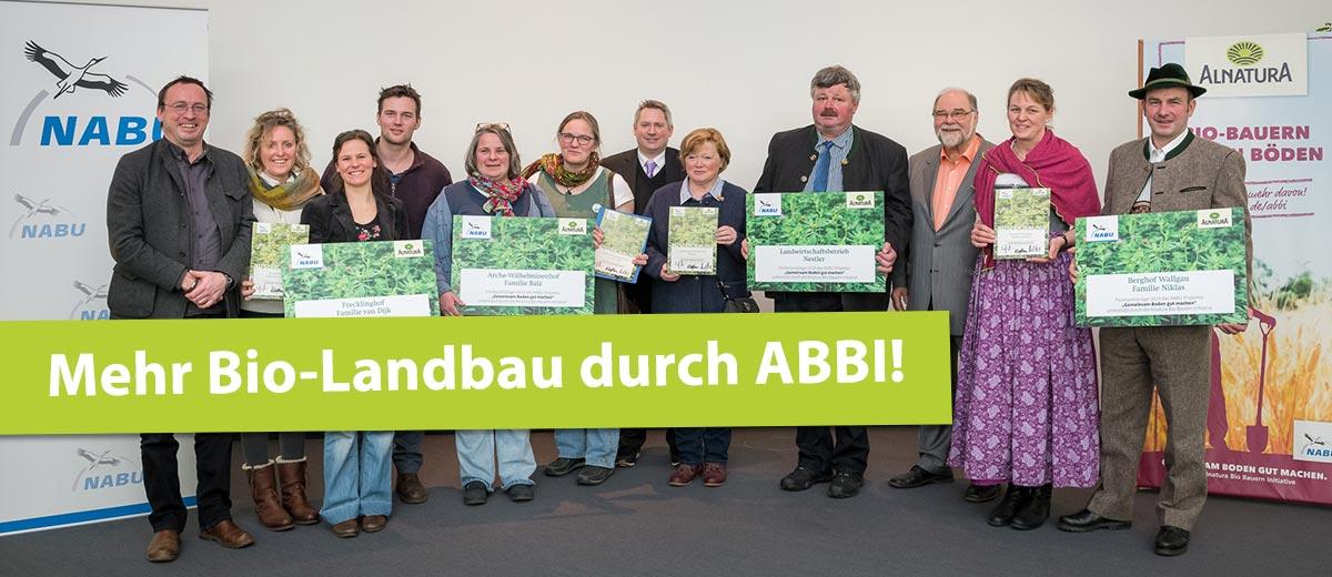 Mehr Bio-Landbau durch ABBI
